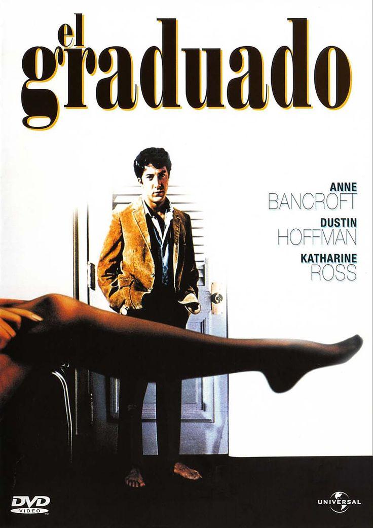 El graduado (1967) EEUU. Dir: Mike Nichols. Benjamin Braddock (Dustin Hoffman) vuelve a casa después de terminar sus estudios universitarios. Es un joven que alberga un gran rencor contra la hipocresía y la corrupción de la sociedad que lo rodea. La señora Robinson (Anne Bancroft), una amiga de la familia, se encapricha de él y lo hace su amante. Pero cuando Benjamin conoce a Elaine (Katharine Ross), la hija de la señora Robinson, todo se complica...