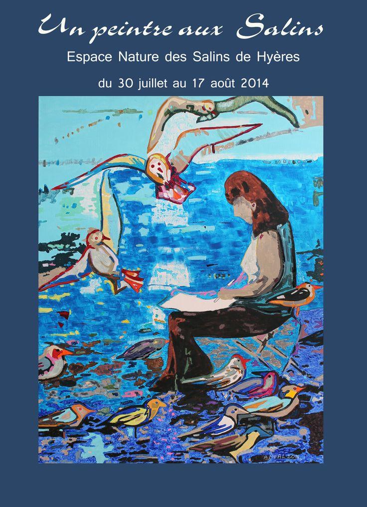 Exposition  de Arlette Béal à l'Espace Nature des Vieux Salins à Hyères