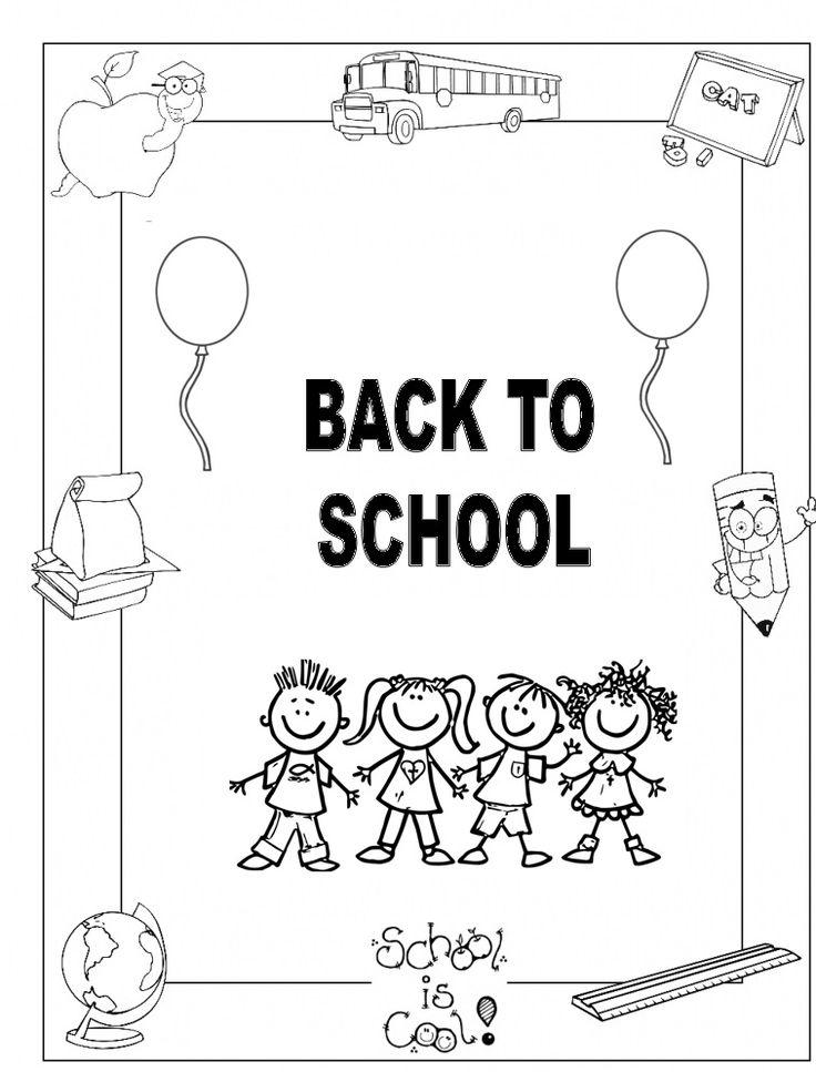 Free printable back to school worksheet for preschoolers