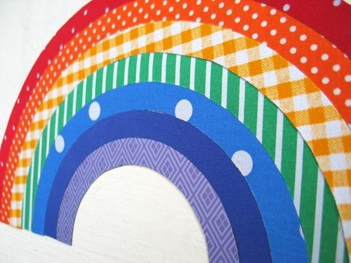 Magnetic Rainbow Interactive Fabric Decal by A Tinch of Design modern kids decor