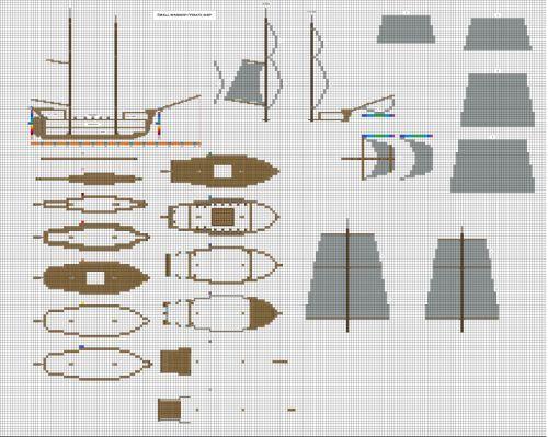 Minecraft small pirate Warship