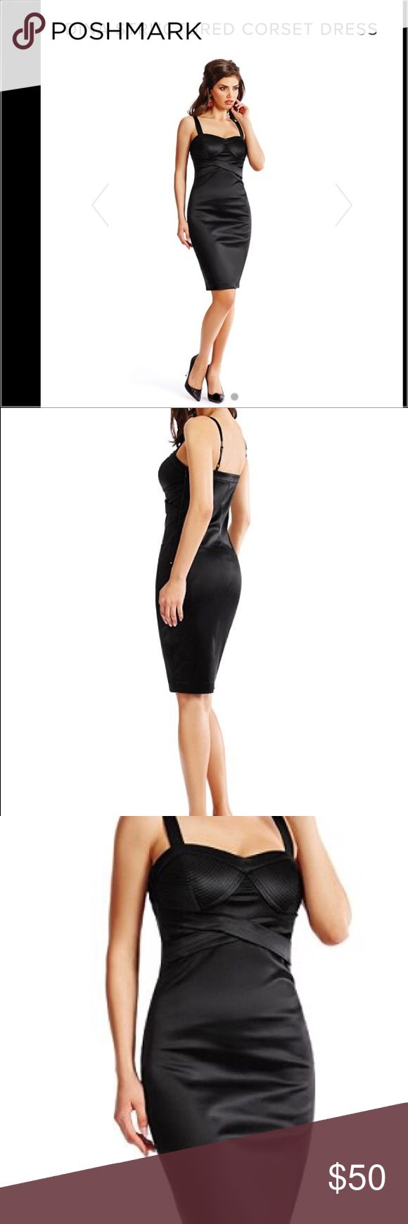Guess by Marciano Dina Structured Corset Dress Beautiful Coset Dress NWT Marciano Dresses Midi