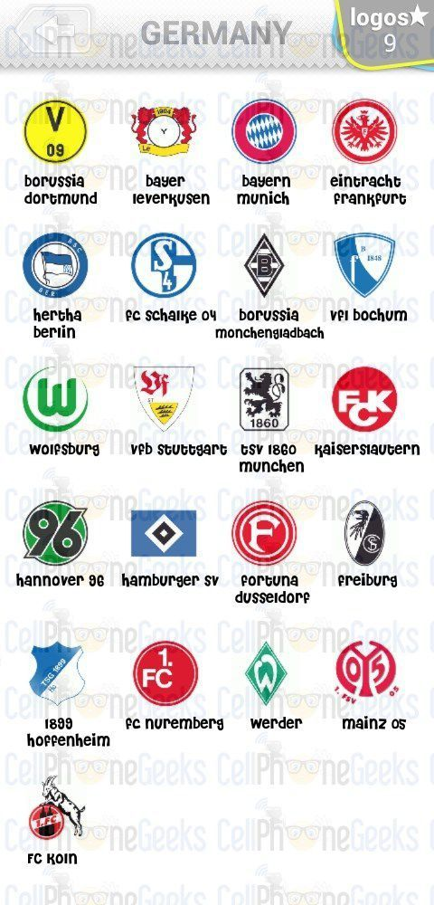 Level 2 – Logo Quiz Football Clubs Germany Answers