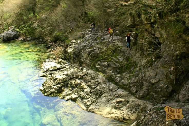 Hiking through Vikos gorge, one of the deepest gorges in the world!