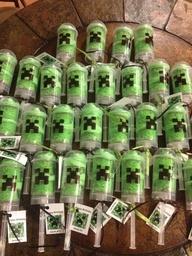 creeper minecraft party ideas - green marshmallows??