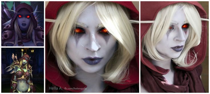 Sylvana's Makeup; FaceBook page : http://tiny.pl/gmn5p  Instagram -> @hella_a_oficiall #makeup #characterization #sylvanaswindrunner #sylvanas #wow #warcraft #cosplay #facepaint #art