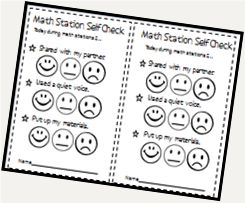 Math station rubric: Love how this gets students looking