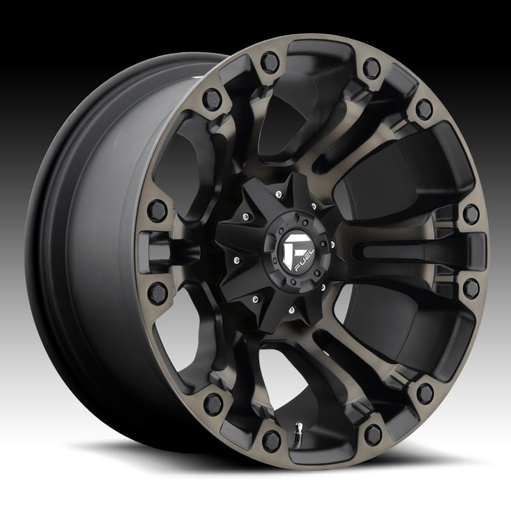 Fuel Vapor D569 Matte Black Machined w/ Dark Tint Custom Truck Wheels Rims