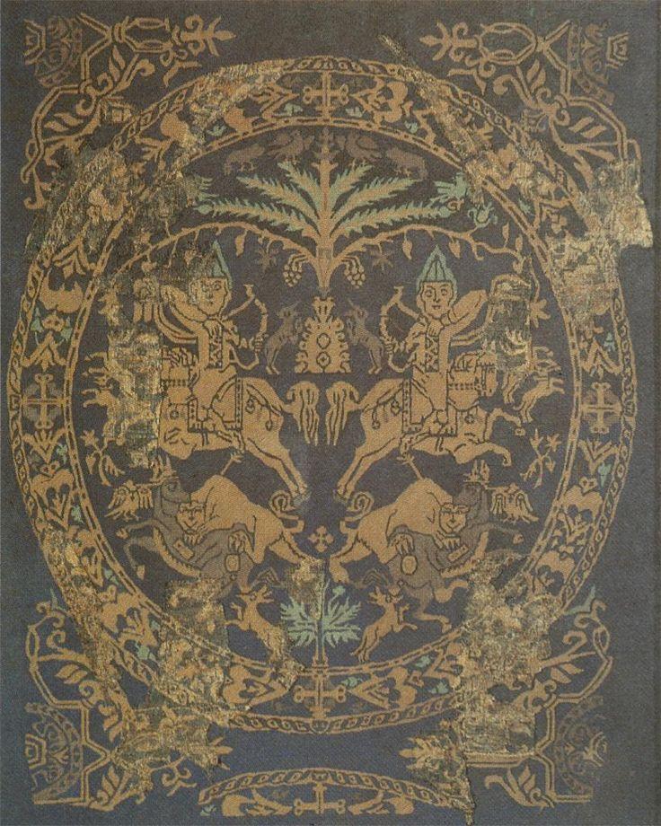 Syrian or Byzantine Horse Archers, on silk, 8th century