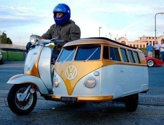 VW side car. This is just amazingly awesome!!