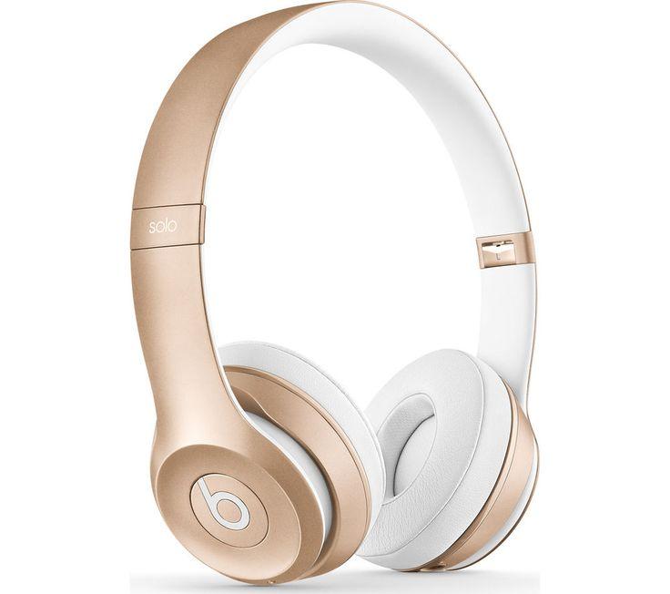 BEATS Solo 2 Wireless Bluetooth Headphones - Gold