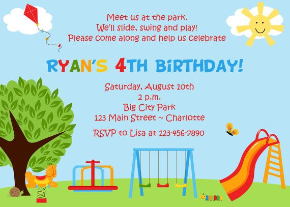 Park birthday party invitation  park play by TheButterflyPress, $12.00