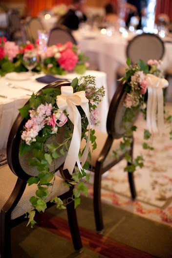 If Money Is This Would Be Nice Only For The Bride And Groom S Chairs Ivy Chair Decor