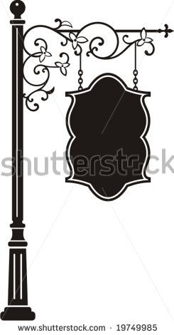 Exquisite Hanging Sign With Ornamental Details, Vector Series. - 20441518 : Shutterstock