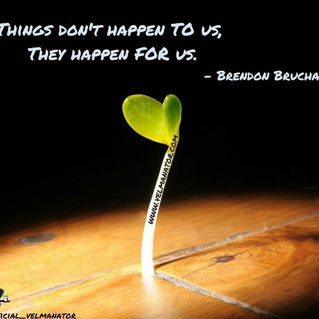 """""""Things don't happen TO us, they happen FOR us."""" - Brendon Bruchard .   Everything in our life happens for a reason and we are exactly where we need to be. Many times, its our attitude we need to change, not our situation.  If we're not impressed by our strengths, our talents & our God-given abilities, then we cannot be depressed by our weaknesses & our inabilities.  We cannot have it both ways.   """"If it's rain you pray for, then you have to learn to deal with the mud too."""" - Denzel…"""