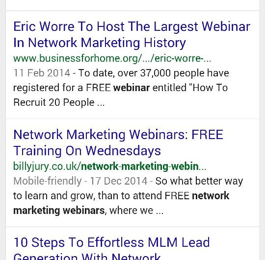 People ask me if the marketing taught inside of MLSP actually works?  Well I'm here to tell you that it does. So much so that, by following simple steps taught on one of the programs. I have been able to rank a blog post of mine on the first page of Google!   So yes it does work! If your struggling to generate leads for your business and want to take it to the next level, but don't know how? Then I highly recommend you come checkout what I'm doing!   You deserve to have success and this…