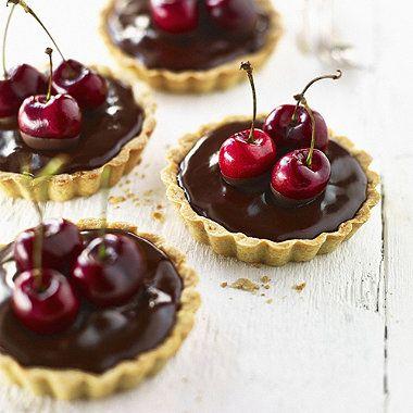 Chocolate Cherry Tartlets