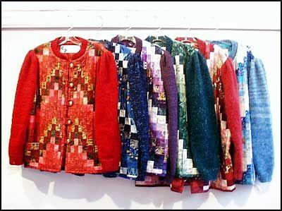 Several bargello jackets.