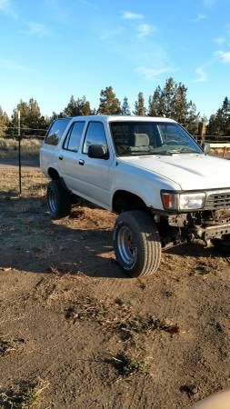 ***2 Toyota 4runners, 1 price 1991 & 1992 4×4 (bend) $1400: QR Code Link to This Post 1992 4runner v6, 5spd, 4×4,sunrood, power everything,…