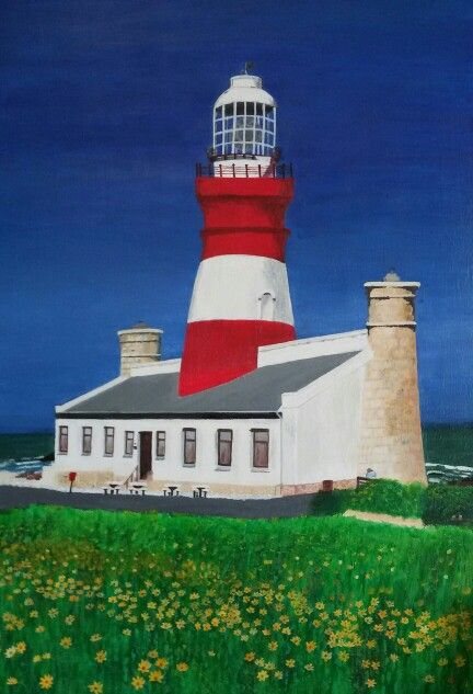 My painting -Cape Agulhas Lighthouse