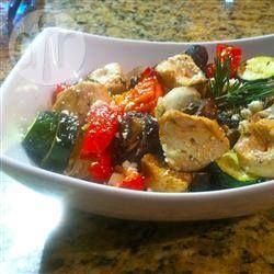 Griekse kip- en groentespiesjes