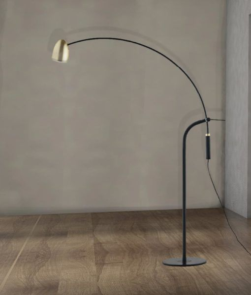 black and gold arc floor lamp cl33986 cl33986 is a 1 light