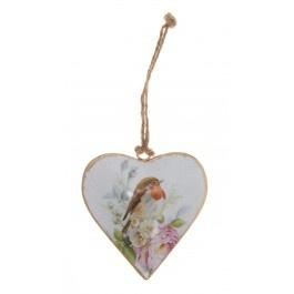 Robin Metal Heart Decoration £3.75