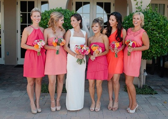 Mismatched Bridesmaids - let the ladies show their own personalities and be themselves