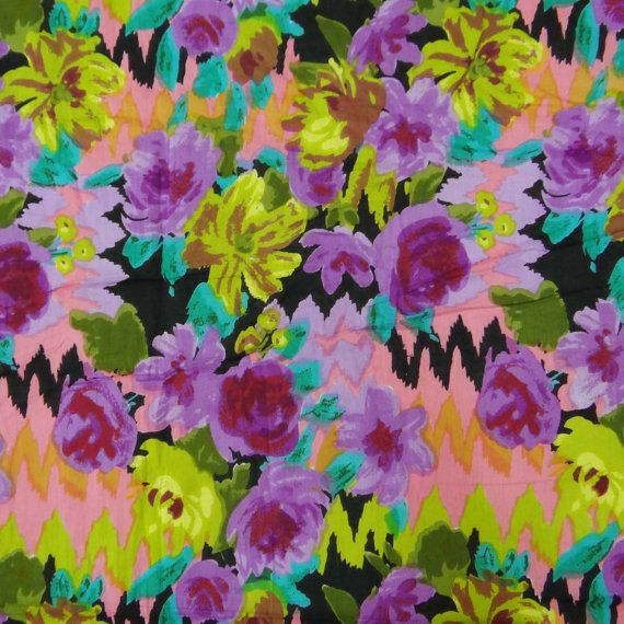 43 Wide Floral Print Fabric  For Sewing Dressmaking Material