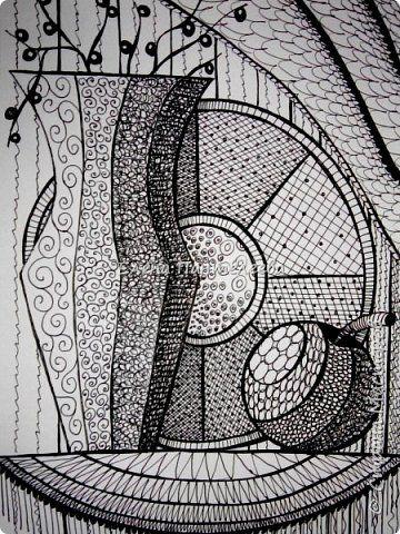 Учитывая пожелание хорошего человека, предлагаю нарисовать простой декоративный натюрморт. фото 1