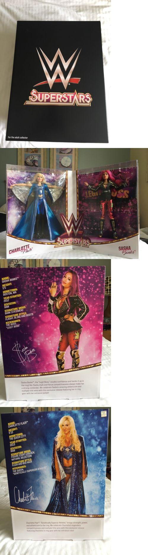 Sports 754: 2017 Sdcc Mattel Exclusive Wwe Superstars Sasha Banks And Charlotte Flair Set -> BUY IT NOW ONLY: $125 on eBay!