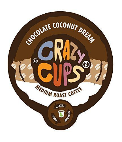 Crazy Cups Chocolate Coconut Dream Flavored Coffee Single Serve cups for Keurig K-cup Brewer, 22 K-cups - http://teacoffeestore.com/crazy-cups-chocolate-coconut-dream-flavored-coffee-single-serve-cups-for-keurig-k-cup-brewer-22-k-cups/