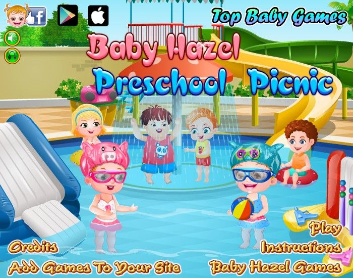 Baby Hazel is busy packing her picnic bag with the essential stuff required to enjoy splash of water pool and slide. Help her in packing and take a good care of Hazel at the water park. http://www.topbabygames.com/baby-hazel-preschool-picnic.html