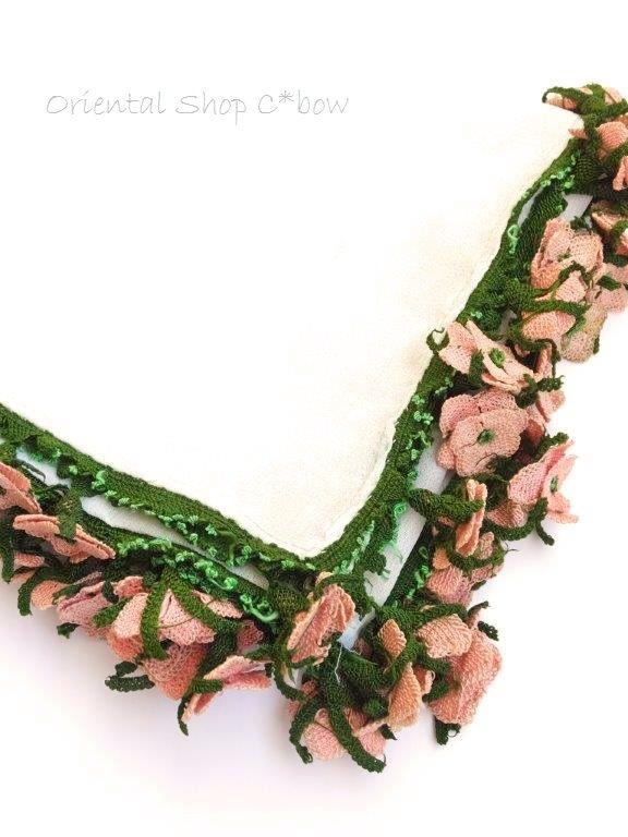 画像5: ◆アイドゥン|アンティークオヤスカーフ|シルク糸|花嫁必需品*アイドゥンの薔薇 (5)