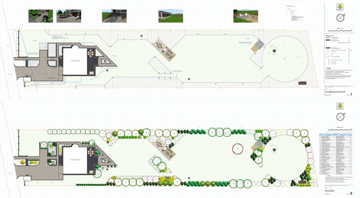 """projekt dosyć wąskiego i długiego ogrodu; ogród nowoczesny z wprowadzeniem skośnych linii - układ sprawia wrażenie większego, obszerniejszego z """"zatartymi"""" granicami."""