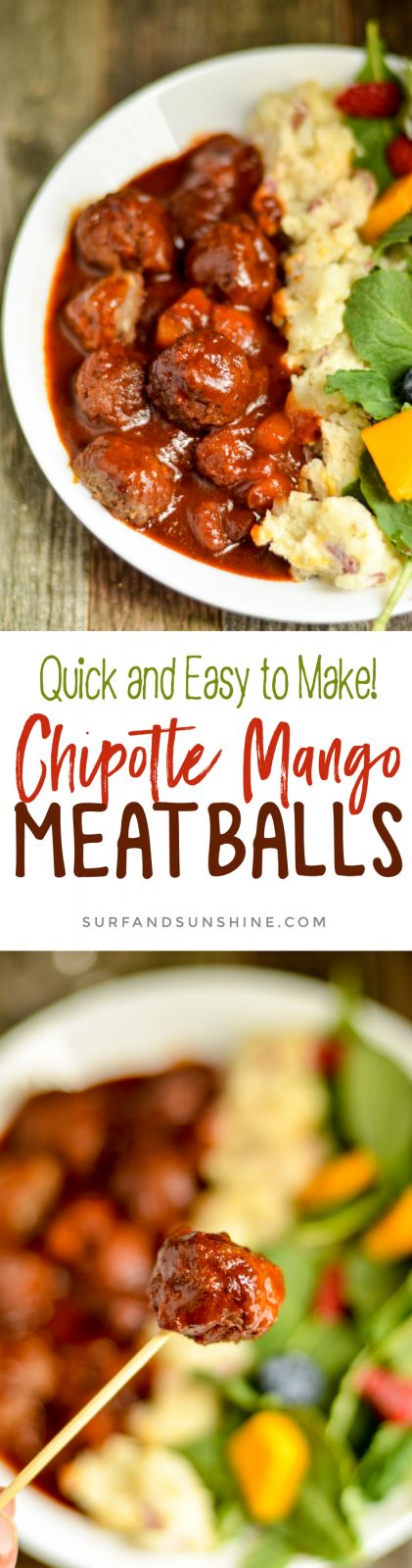 Game Day Chipotle Mango Meatball Recipe