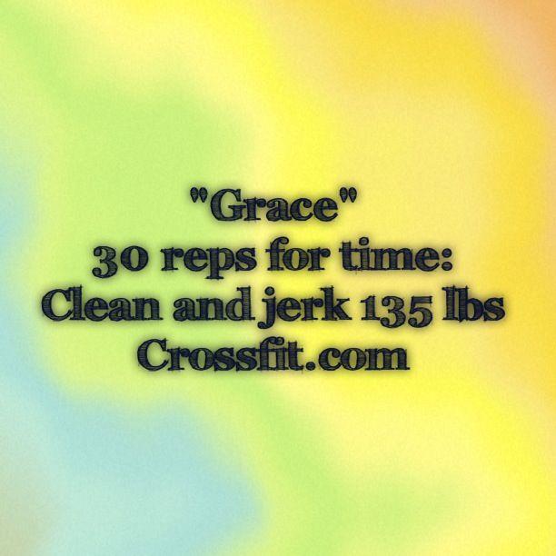"""WOD """"Grace"""" Crossfit"""