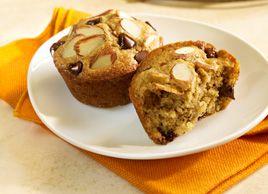 Muffins double amande pour le déjeuner | Recettes | Mon assiette | Plaisirs Santé