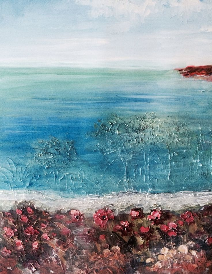 "Acrylic on canvas 40x40"" by Marie Lardino"
