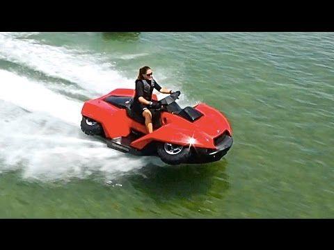Amphibious Vehicles ATV Quad Bike Gibbs Quadski TV Commercial Amphibious...