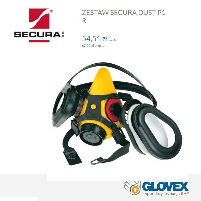 #Półmaska #Secura2000 Dust do wielokrotnego użytku, w zestawie wyposażona w filtry przeciwpyłowe Cena 67 zł brutto