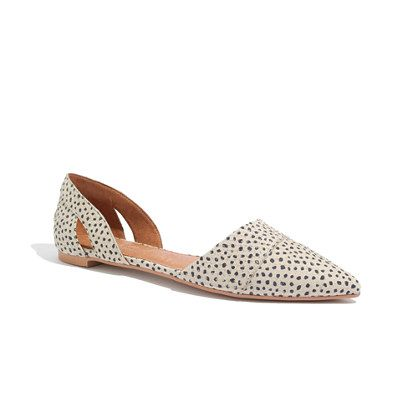 Madewell - The d'Orsay Flat in Spot Dot. An elegant twist on essential flats—and a shoe icon in the making. You can wear these sharply shaped d'orsays for miles and miles—and never get tired of their cool cutout vibe.