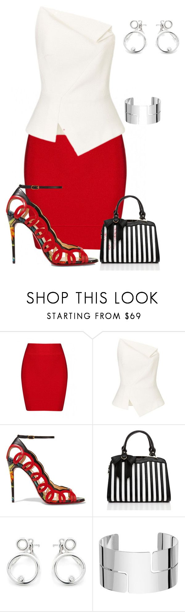 """Untitled #733"" by angela-vitello on Polyvore featuring Roland Mouret, Christian Louboutin and Dinh Van"