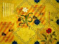 Title: No Bateau Lavoir 90 x 120 cm mixed media on mdf.