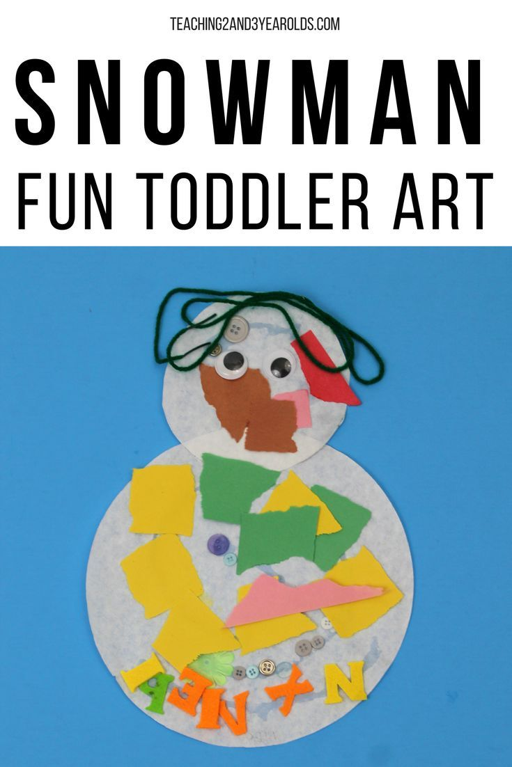 These winter snowmen are a fun way to add some simple literacy to your toddler art table. Promotes fine motor development, too! #art #winter #snowman #toddlers #literacy #finemotor #AGE2 #kidsactivity