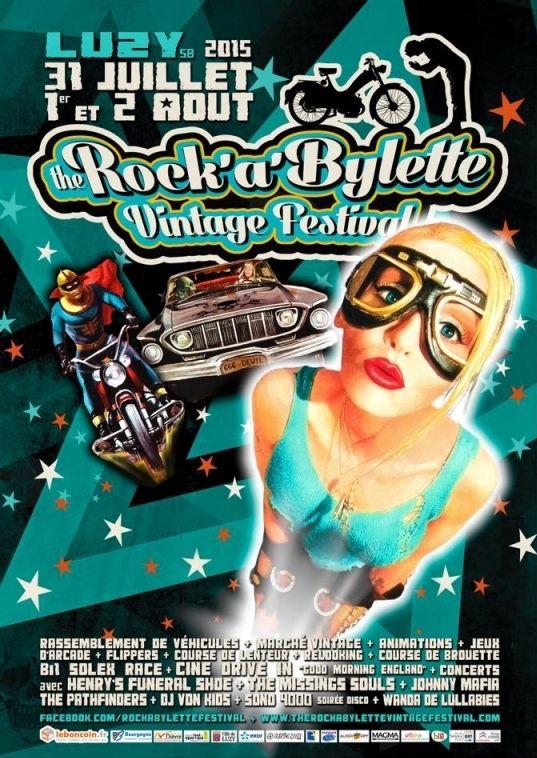 The Rock'a'Bylette Vintage Festival, Luzy (58170), Bourgogne