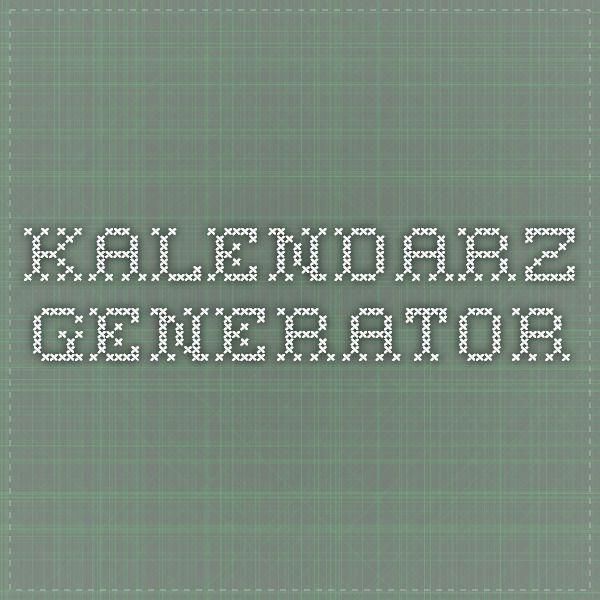 Kalendarz generator