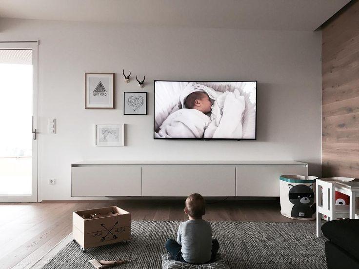 114 besten u003eu003e TV Wohnwände u003cu003c Bilder auf Pinterest Bestechen - moderne wohnzimmer grau weiss