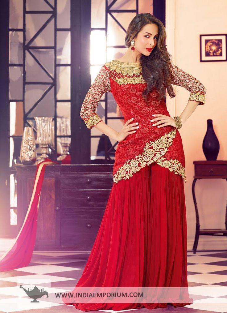 Red Net Based #Suit  #Bollywood  #BollywoodFashion