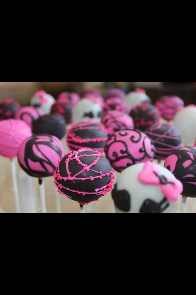 Monster high cake pops by Katie's Confections
